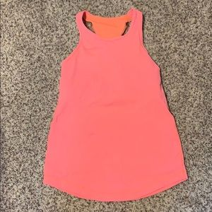 Neon pink athletic tank top